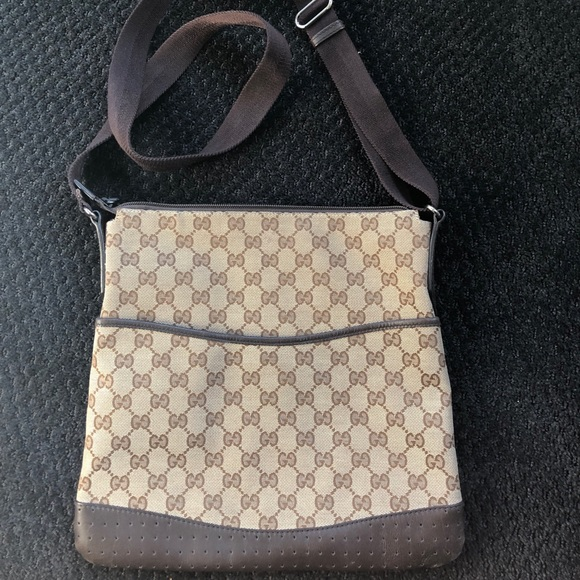 854b965409c Gucci Handbags - AUTHENTIC GUCCI canvas monogram with leather